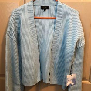 * MAJORELLE blue cardigan w/tie